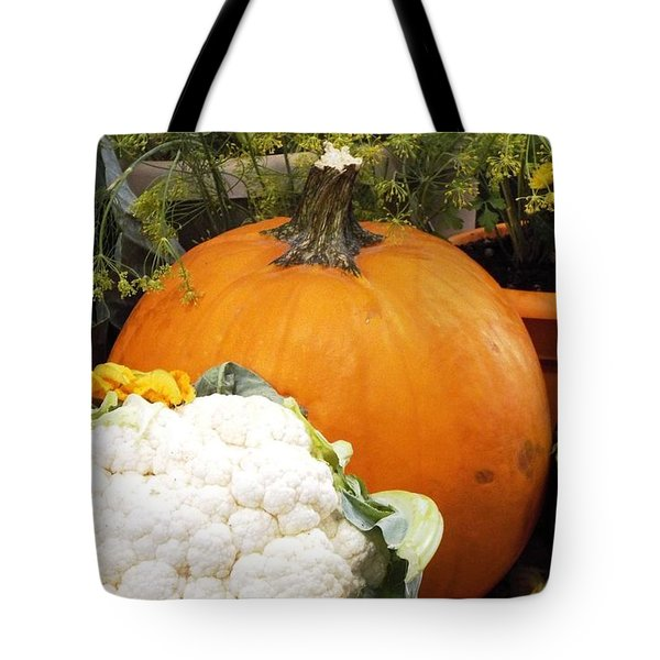 Tote Bag featuring the photograph Fall Harvest by Judyann Matthews