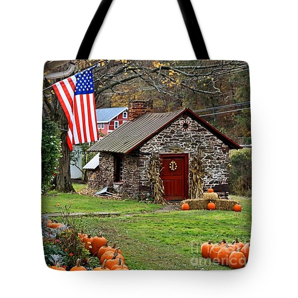 Tote Bag featuring the photograph Fall Harvest - Rural America by DJ Florek