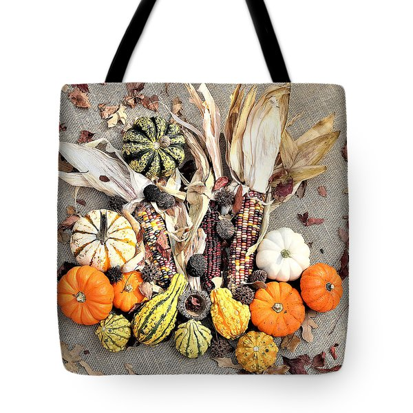 Tote Bag featuring the photograph Fall Harvest by Sheila Brown