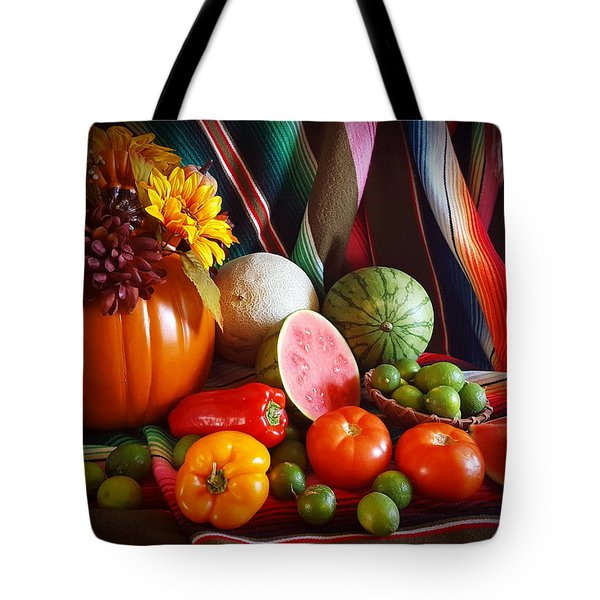 Tote Bag featuring the painting Fall Harvest Still Life by Marilyn Smith