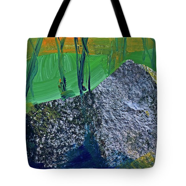 Tote Bag featuring the painting Fall Hiking Trail No 2 by Walter Fahmy