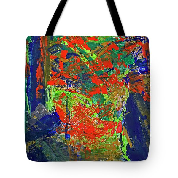 Tote Bag featuring the painting Fall Hiking Trail by Walter Fahmy