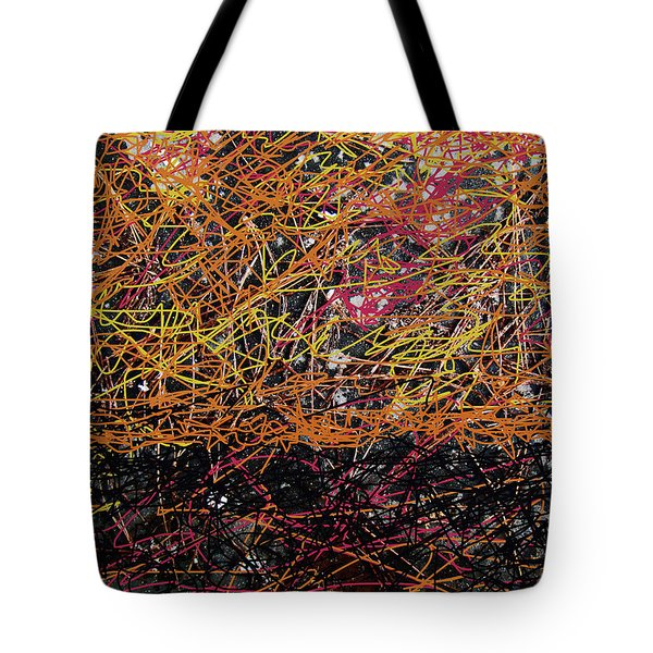 Tote Bag featuring the digital art Fall Homage To Jackson by Walter Fahmy