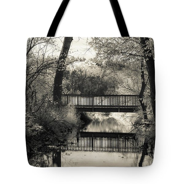 Fall In Black And White Tote Bag