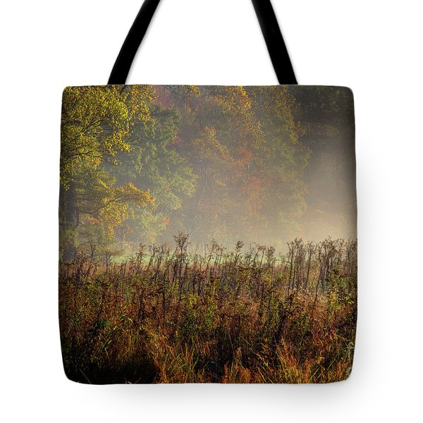 Tote Bag featuring the photograph Fall In Cades Cove by Douglas Stucky