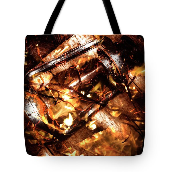 Fall In Fire Tote Bag