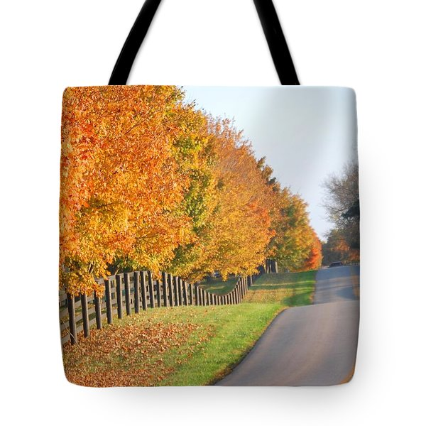 Fall In Horse Farm Country Tote Bag