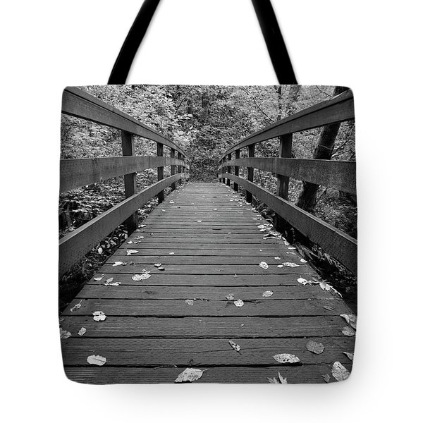 Tote Bag featuring the photograph Fall In Oregon Bw by Jonathan Davison