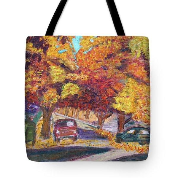 Fall In Santa Clara Tote Bag by Carolyn Donnell