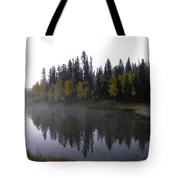 Kiddie Pond Fall Colors Divide Co Tote Bag