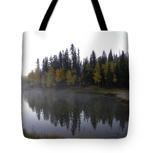 Tote Bag featuring the photograph Kiddie Pond Fall Colors Divide Co by Margarethe Binkley
