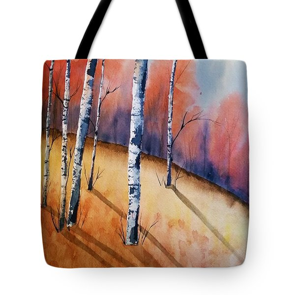 Fall In The Birches Tote Bag