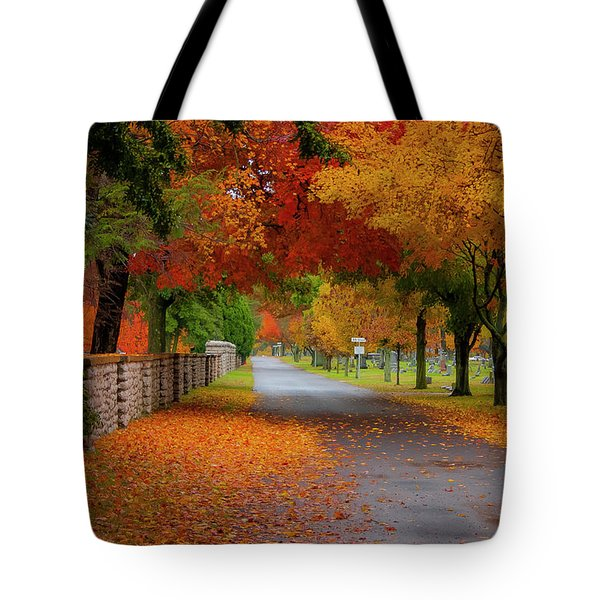 Fall In The Cemetery Tote Bag