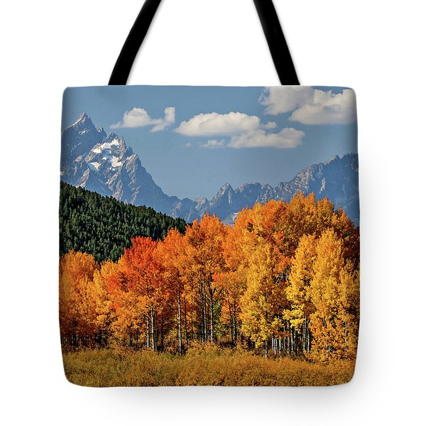 Fall In The Tetons Tote Bag