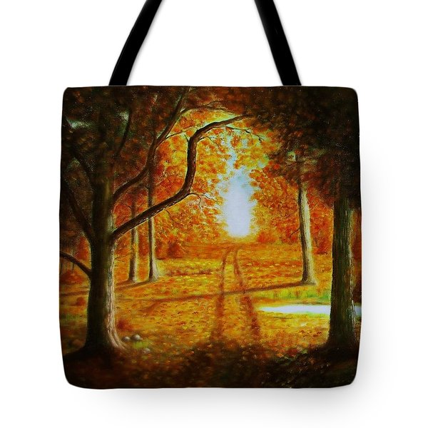 Fall In The Woods Tote Bag by Gene Gregory