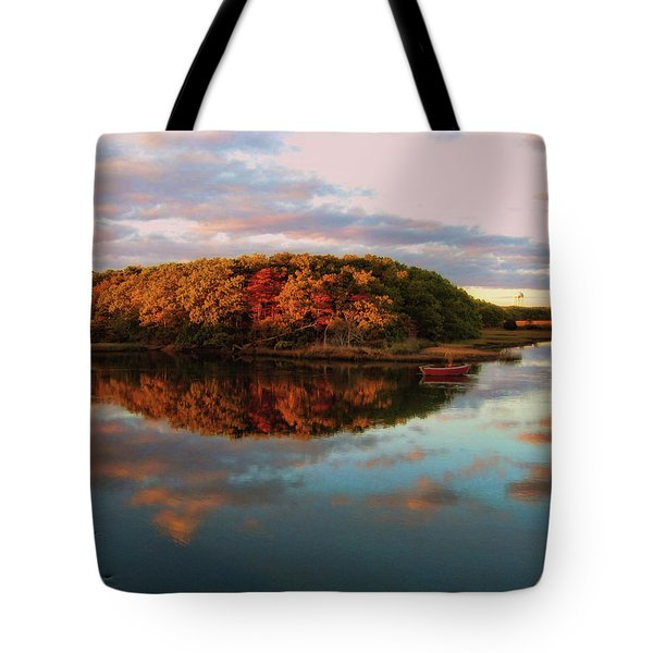 Fall In Wellfleet Tote Bag by JAMART Photography