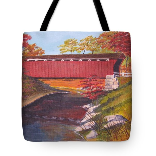 Fall Is In The Air Tote Bag by CB Woodling