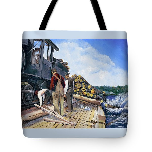 Fall Lake Train Tote Bag