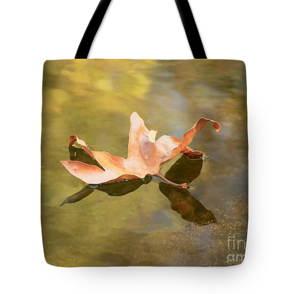 Fall Leaf Floating Tote Bag