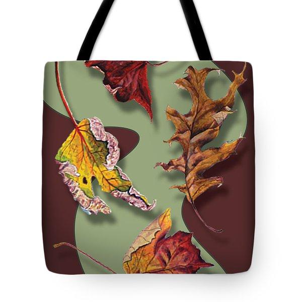 Fall Leaves Card Tote Bag