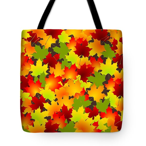 Fall Leaves Quilt Tote Bag by Anastasiya Malakhova