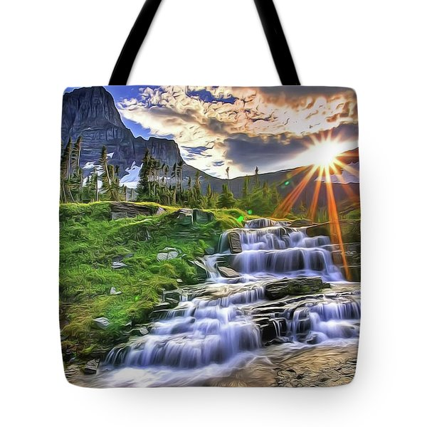 Tote Bag featuring the painting Fall Light by Harry Warrick