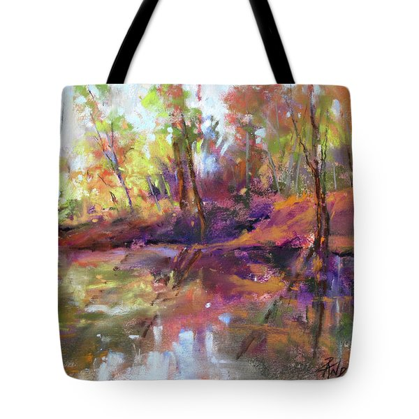 Fall Millpond Tote Bag