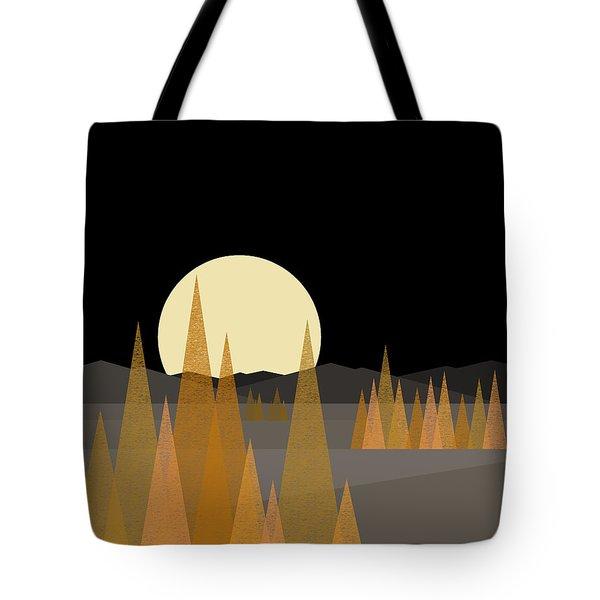 Fall Moon - Vertical Tote Bag
