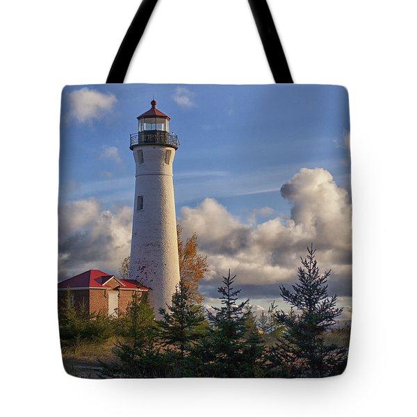 Fall Morning At Crisp Point Tote Bag