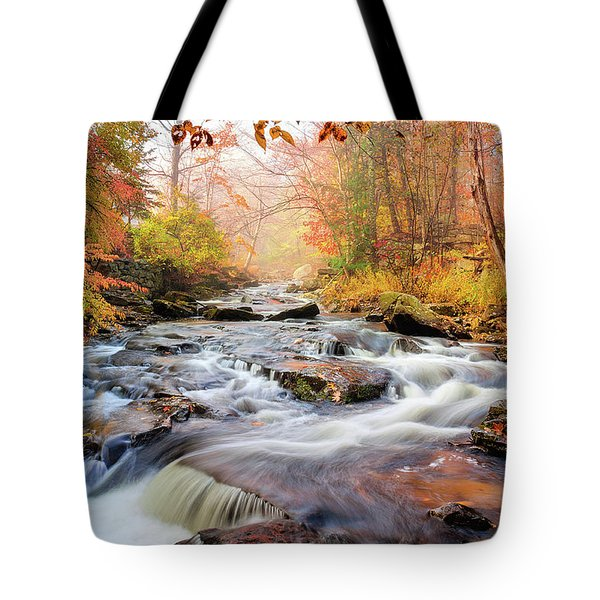 Fall Morning At Gunstock Brook Tote Bag