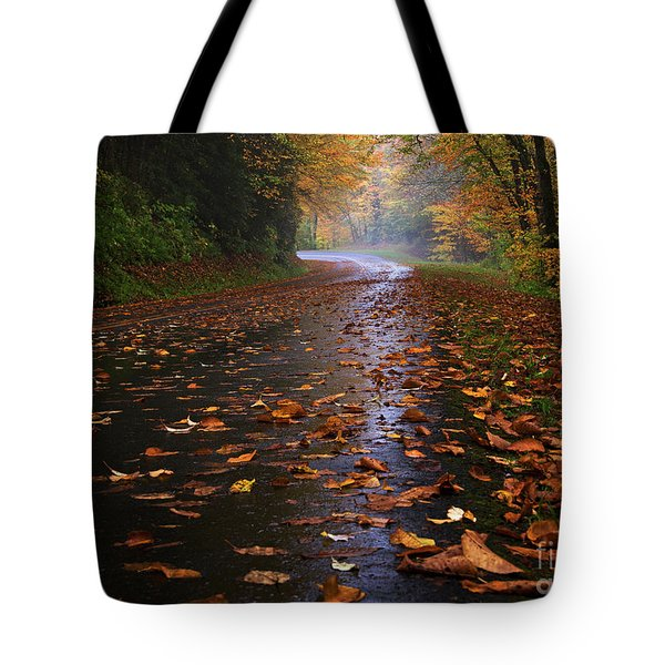 Fall Morning, Great Smoky Mountains National Park Tote Bag