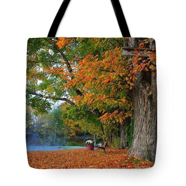 Fall Morning In Jackson Tote Bag