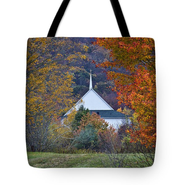 Fall Mountain Church  Tote Bag