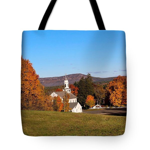 Fall Mountain View Tote Bag