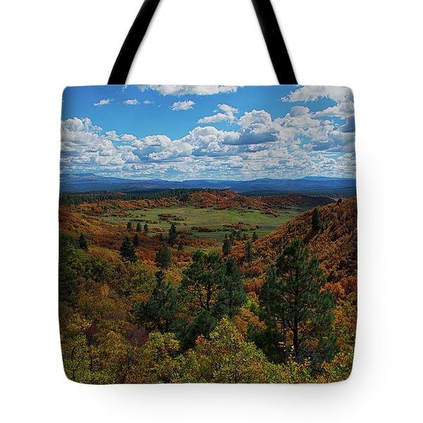 Fall On Four Mile Road Tote Bag by Jason Coward