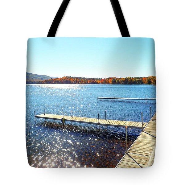 Fall On Lake Dunmore Tote Bag