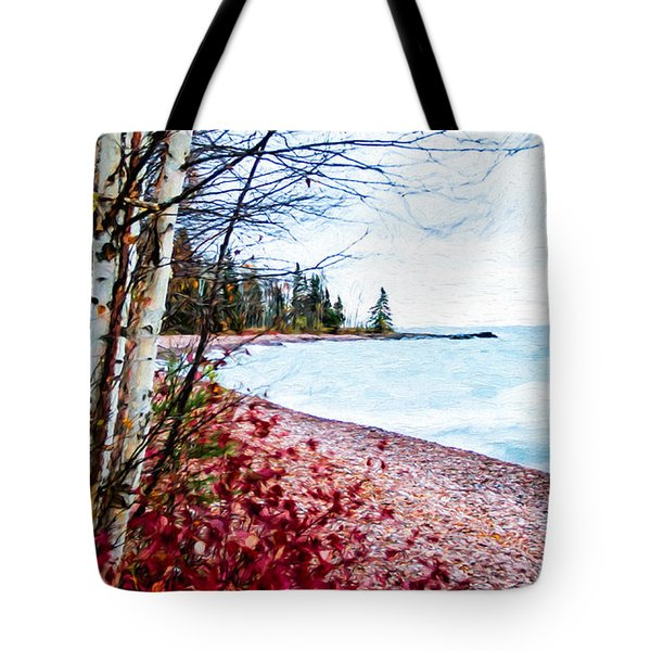 Fall On Lake Superior Tote Bag