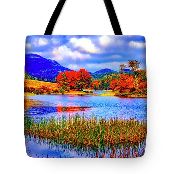Fall On Long Pond Acadia National Park Maine  Tote Bag