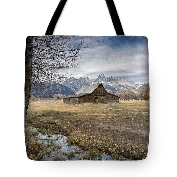 Tote Bag featuring the photograph Fall On Mormon Row - Grand Teton National Park by Sandra Bronstein