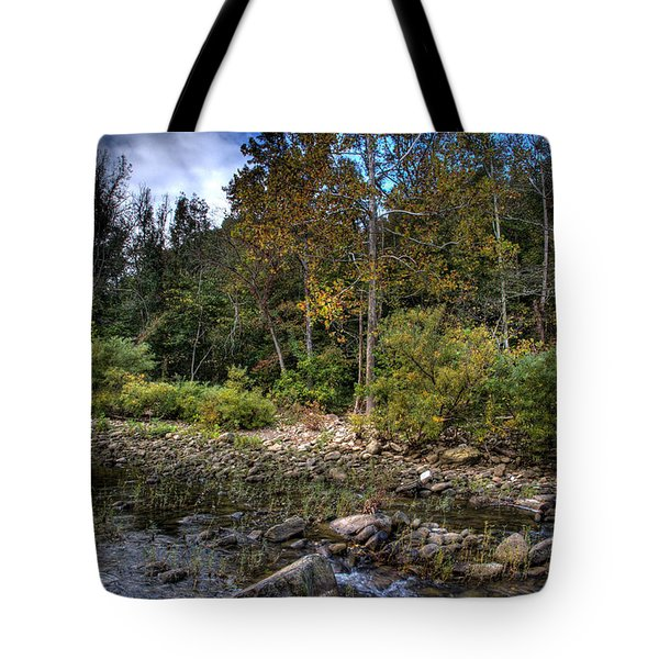 Tote Bag featuring the photograph Fall On The Hailstone by Michael Dougherty