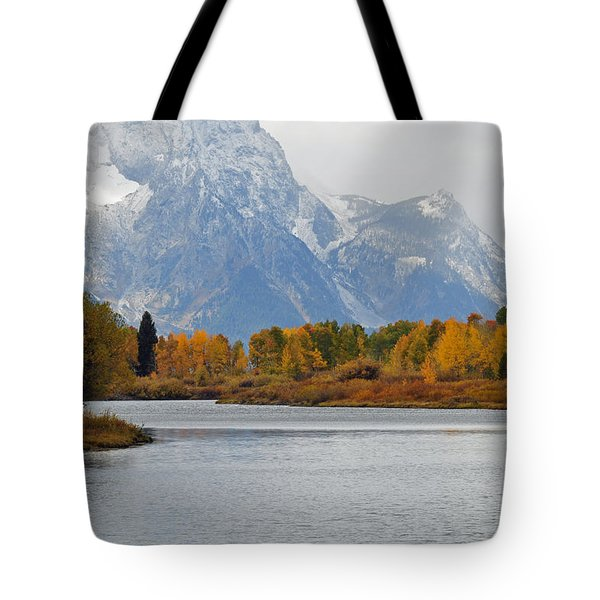 Fall On The Snake River In The Grand Tetons Tote Bag