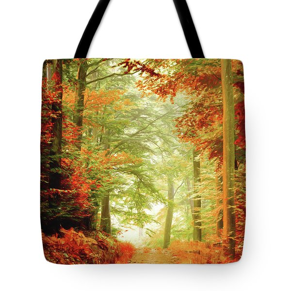 Fall Painting Tote Bag