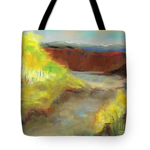 Fall Ponds Tote Bag by Frances Marino