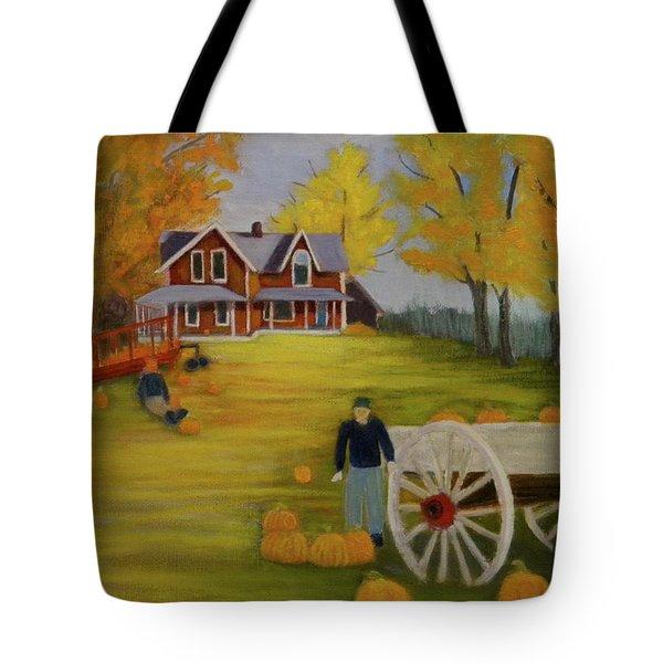 Fall Pumpkin Harvest Tote Bag