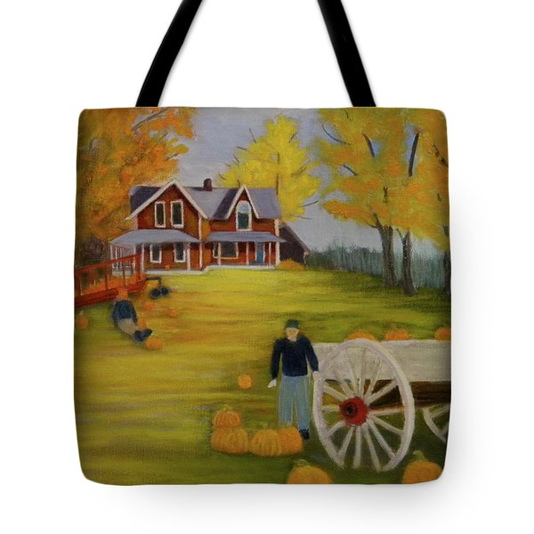 Fall Pumpkin Harvest Tote Bag