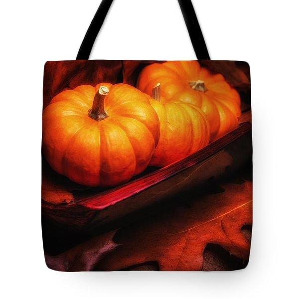 Fall Pumpkins Still Life Tote Bag by Tom Mc Nemar