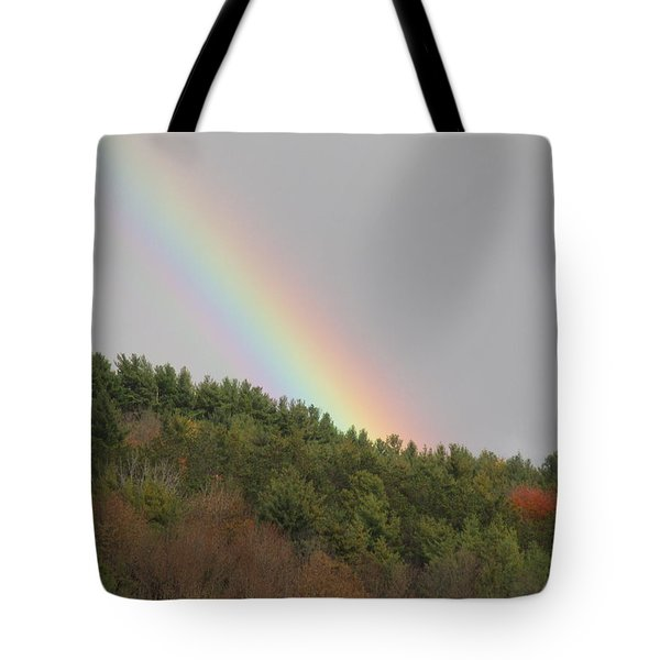 Fall Rainbow Tote Bag