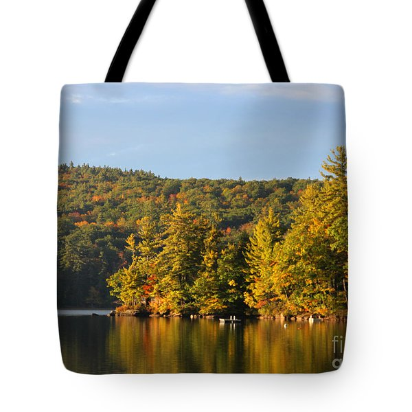 Fall Reflection Tote Bag by Michael Mooney