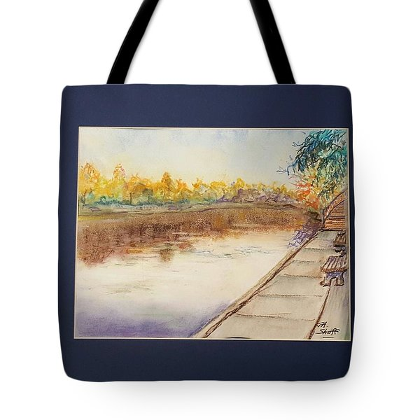 Fall Reflections At Weldon Springs Near Clinton, Il Tote Bag