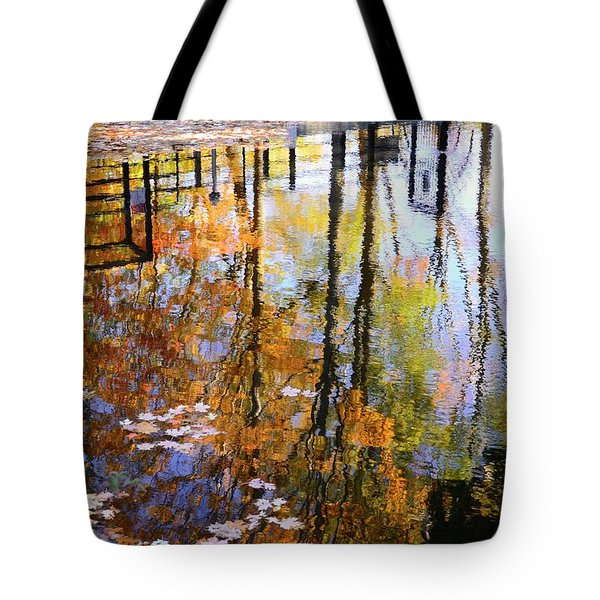 Tote Bag featuring the photograph Fall Reflections by Corinne Rhode